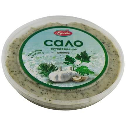 Сало Браво бутербродное нежное с чесноком и зеленью 150 г