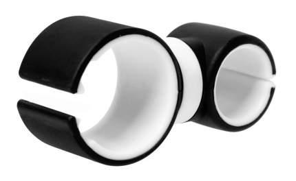 Универсальный держатель GSMIN Round Holder для телефона на велосипед (Черно-белый)