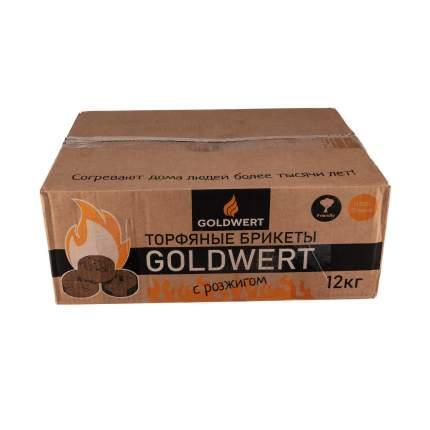 Торфяные брикеты с розжигом GOLDWERT 12кг