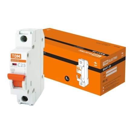 Автоматический выключатель Tdm Ва47-29 1P 25А 4,5Ка Х-Ка С Sq0206-0076