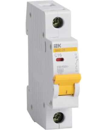 Автоматический выключатель IEK ВА47-29, 1P 1А, тип С, 4.5кА