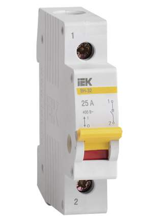 Выключатель нагрузки (мини-рубильник) IEK ВН-32 1Р 25А