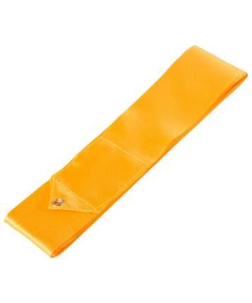 Гимнастическая лента Amely AGR-201 с палочкой 46 см, 4 м, оранжевая