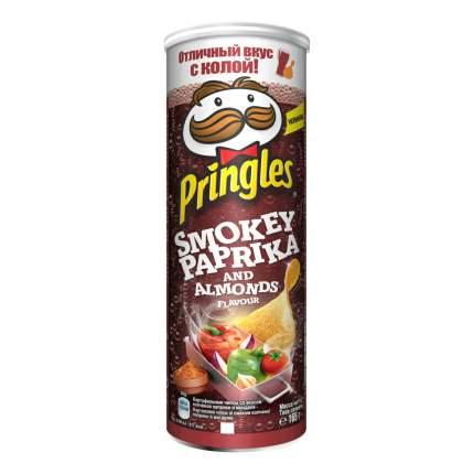 Чипсы картофельные Pringles со вкусом копченой паприки и миндаля 165 г