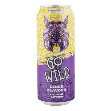 Напиток энергетический Go Wild яблочный сидр газированный безалкогольный 0,5 л