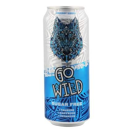 Напиток энергетический Go Wild газированный безалкогольный без сахара 0,5 л