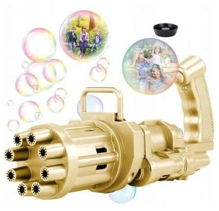 Детская пузырь машина Миниган пулемет Гатлинга с вентилятором, золотая GK0012C