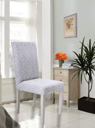 "Чехол на стул без оборки Venera ""Жаккард"", цвет светло-серый, 1 предмет"