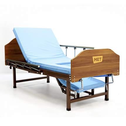Кровать двух-функциональная медицинская, со складными боковыми ограждениями MET STAUT