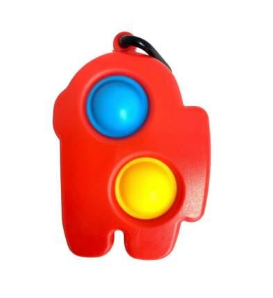 Игрушка-антистресс Simple Dimple брелок Амонг Ас, 6х9 см Красный