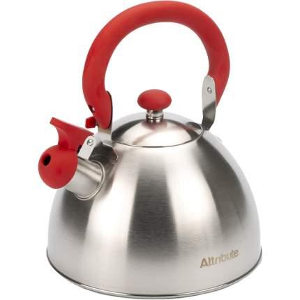 Чайник со свистком FESTIVAL 2.5л красный