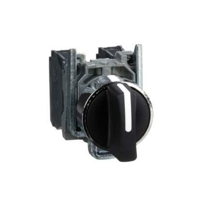 Переключатель 1-0-2  SE XB4 с возвратом в 0 черный 2Н