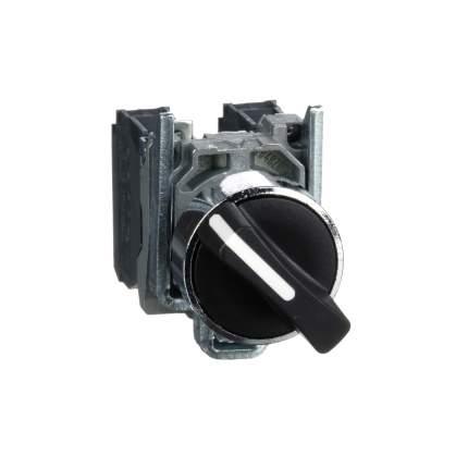 Переключатель с фиксацией SE XB4 1-2 чёрный 1НЗ+1НО IP65