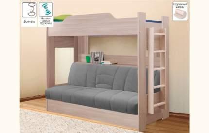 Боровичи-мебель Детская двухъярусная кровать с диваном Боровичи (90 и 120)