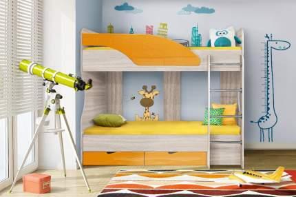 Диал Двухъярусная кровать Бриз-5 80х190 (манго волна)
