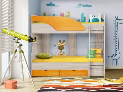 Диал Двухъярусная кровать Бриз-5 80х190 (манго квадрат)