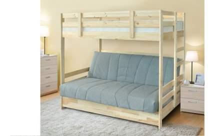 Боровичи-мебель Детская двухъярусная кровать с диваном Боровичи массив (90 и 120)
