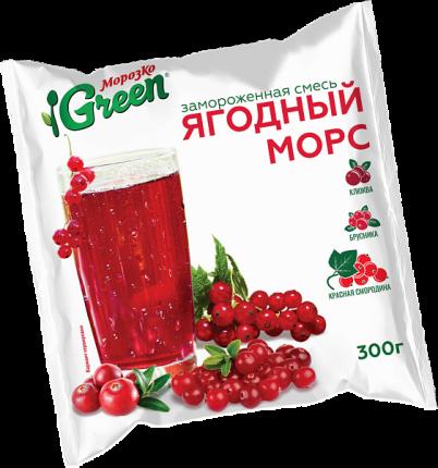 Ягодный морс Морозко Green смесь ягод 300 г