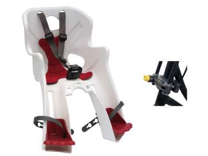 Детское велокресло переднее Bellelli Rabbit Handlefix белое/красное
