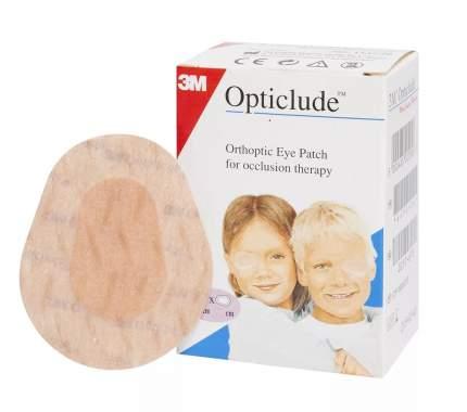 Пластырь глазной 3M Opticlude 5,7 × 8,2 см бежевый с картинками 20 шт.