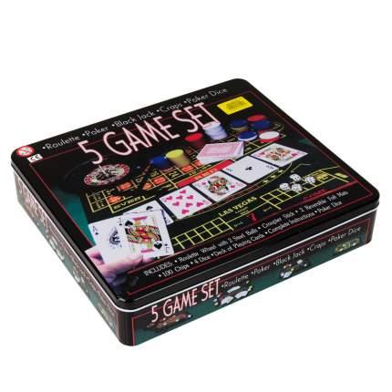 """Набор """"5 игр"""": рулетка, покер, блэк-джек, крапс, покер на костях"""