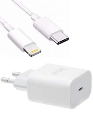 Сетевое зарядное устройство USB-C + кабель Lightning, PD 3.0, 3А, 20 Вт ISA