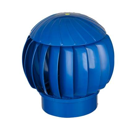Нанодефлектор (турбина ротационная вентиляционная), D160, синий, пластик