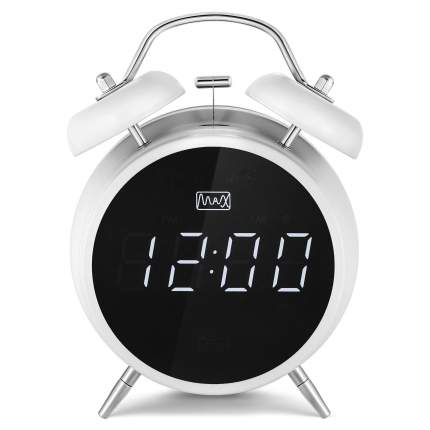 Радио-часы MAX CR-2918 White