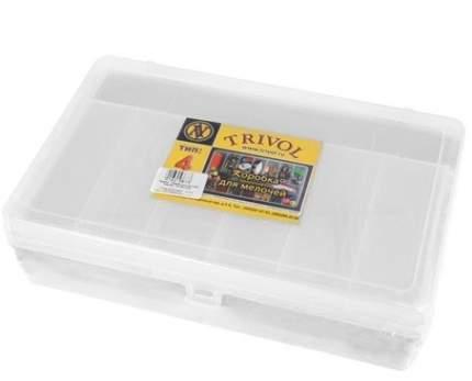 Коробка, 2 яруса, большая, с микролифтом, прозрачный, 235x150x65 мм, арт. ТИП-4