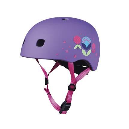 Шлем детский MICRO цветочный М (V2) сиреневый