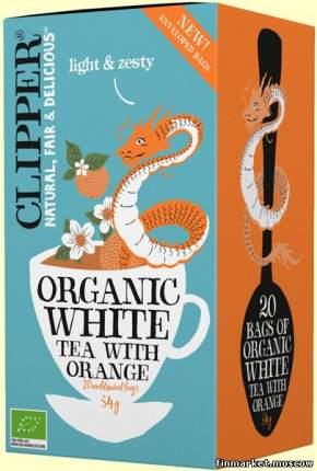 Чай CLIPPER  белый органический с апельсином 34г 20пак  упак 4шт