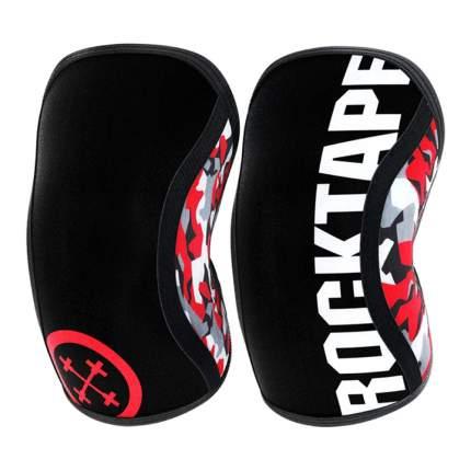 Компрессионные наколенники Rocktape Assassins, красный камуфляж, толщина 7 мм, размер S