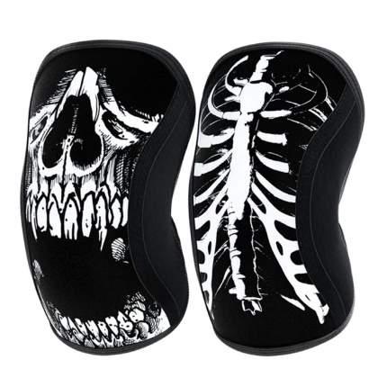 Компрессионные наколенники Rocktape Assassins, Skull, толщина 5мм, размер XL