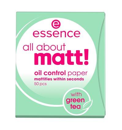 Матирующие салфетки essence - all about matt! oil control paper, 50 шт.