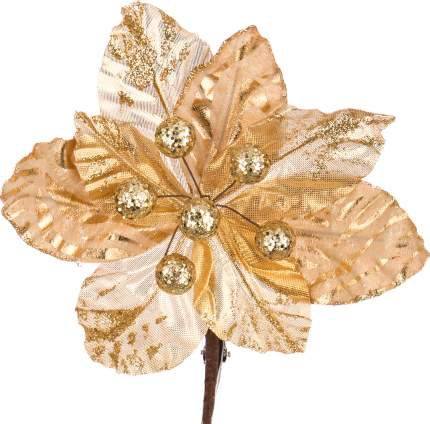 """Цветок искусственный """"Пуансетия"""" на клипсе длина 17 см. Lefard 241-1001"""