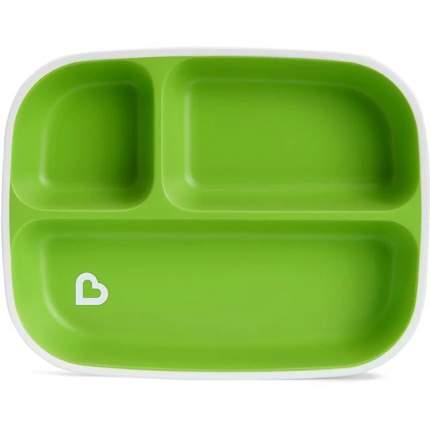 Набор тарелок секционных Munchkin splash голубая/зеленая