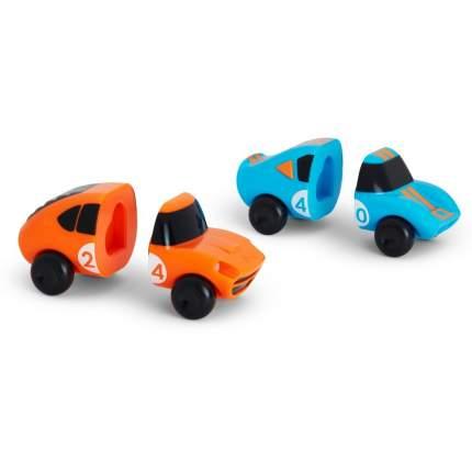 Игрушка для ванны Munchkin машинки голубая-оранжевая magnet motors, 2 шт.