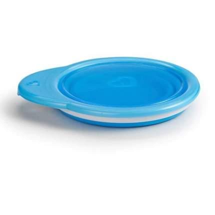 Дорожная детская тарелочка Munchkin с крышкой голубая