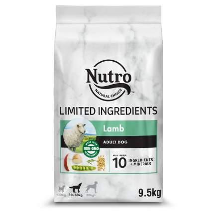 Сухой корм для собак NUTRO, при чувствительном пищеварении, ягненок, розмарин, 9, 5 кг