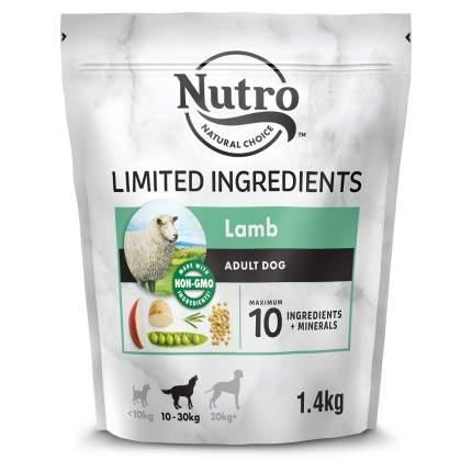 Сухой корм для собак NUTRO при чувствительном пищеварении, ягненок, розмарин, 1.4кг