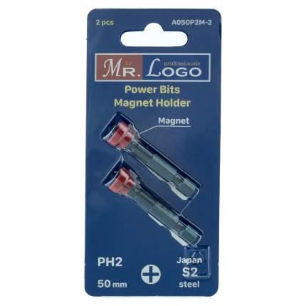 Набор бит PH2 x 50 мм Mr. Logo, Сталь - S2, арт. A050P2M-2, 2 шт.