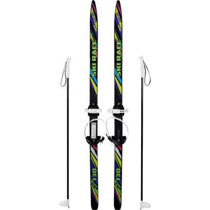 Лыжный комплект (лыжи+палки+крепления) подростковые SKI RACE, 130/100