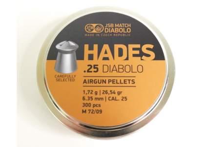 Пули для пневматики JSB Diabolo HADES 6,35 мм, 1,72 гр, 300 шт