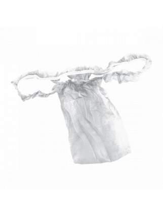 Трусы одноразовые 1-Touch бикини женские с рюшей спанбонд белые 10 шт.