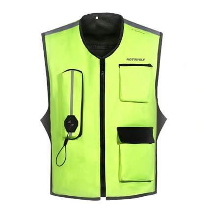Жилет-подушка безопасности для мотоциклиста BroBobber BR-AIRBG-01-M, размер М, зеленый