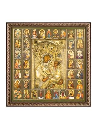 """Икона Божией Матери """"Тихвинская"""" в раме и подарочной упаковке 28х28 Духовный наставник"""