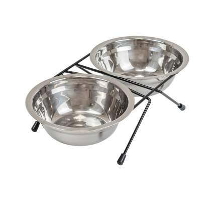 Двойная миска для собак Darell ECO 2 х 0,5л, D16см, чёрная
