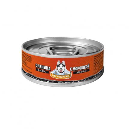 Влажный корм для собак Погрызухин Оленина с морошкой, 100г