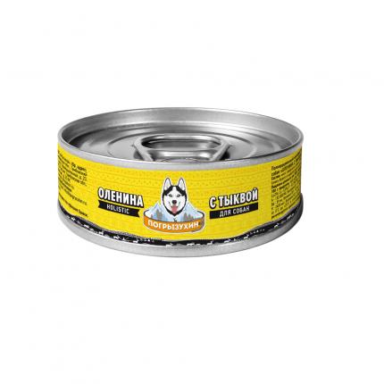 Влажный корм для собак Погрызухин Оленина с тыквой, 100г