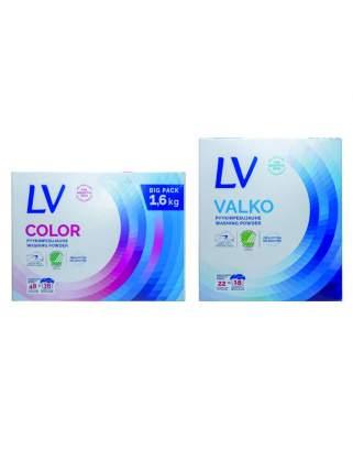 Набор LV Концентрированный  порошок для цветного белья, 1,6 кг + для белого белья, 750 г